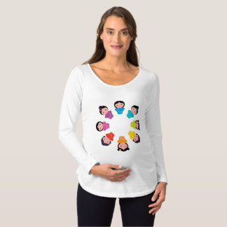 It's a Baby Girl in Kimono Maternity T-Shirt