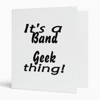 It's a band geek thing! vinyl binder