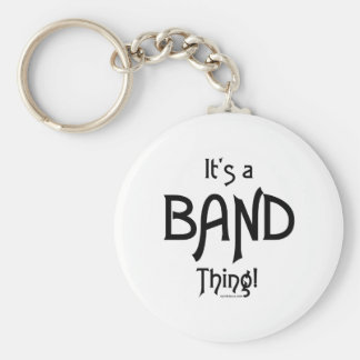 It's a Band Thing! Basic Round Button Keychain