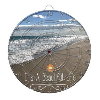 Its A Beautiful Life at the Beach Dartboard