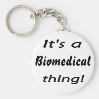 It's a biomedical thing! basic round button keychain