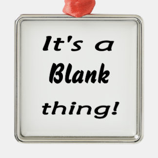 It's a blank thing! Silver-Colored square ornament