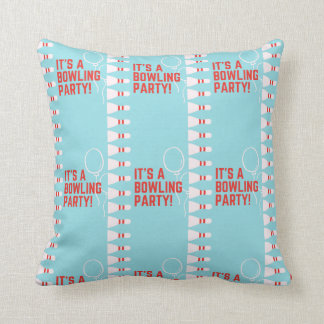 it's a bowling party throw pillow