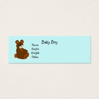 It's A Boy Baby Announcement Mini Business Card