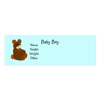 It's A Boy Baby Announcement Pack Of Skinny Business Cards