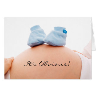 It's a boy baby announcement & shower invitation
