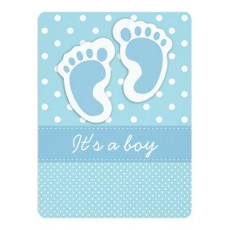 It's a Boy Baby Footprints Card