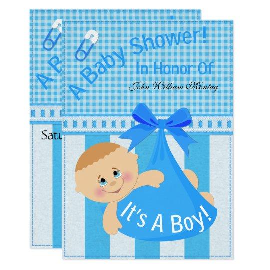 """It's A Boy"" Baby Shower Invite"