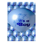 It's A Boy Balloon Personalized Announcement