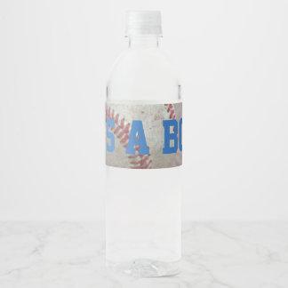 It's a Boy Baseball Water Bottle Label