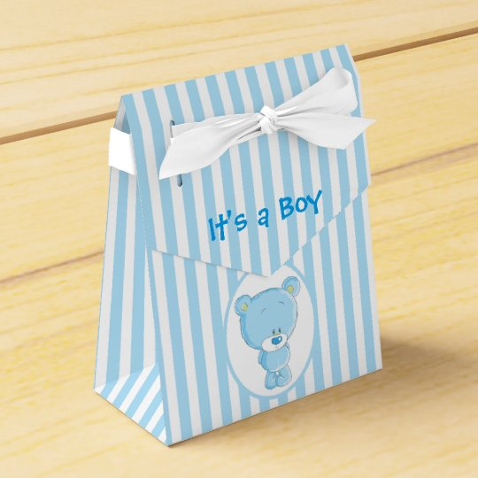 It's a Boy Bear Tent Favour Box Favor Box