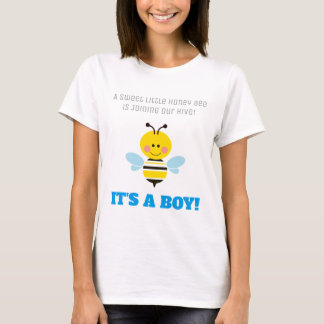 It's a Boy Bee Gender Reveal Baby Shower Cartoon T-Shirt