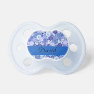 It's a boy! (Blue Buttons) Pacifier