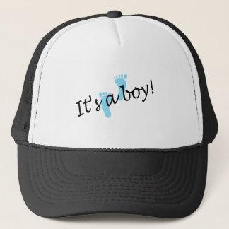 It's A Boy (Blue Feet) Trucker Hat