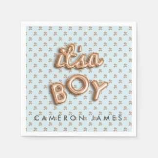 ITS a boy! Blue/ gold NAPKIN Paper Napkins