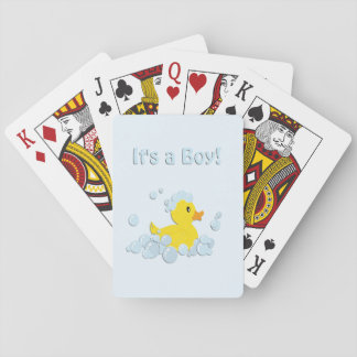 It's a Boy Bubble Baby Blue Playing Cards