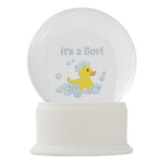 It's a Boy Bubble Baby Shower Blue Snow Globe