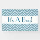 It's a Boy Chevrons Choose Your Colour BLUE 2 Banner