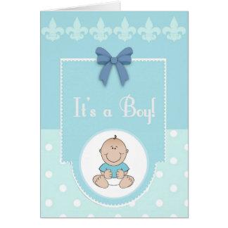 It's A Boy Congratulations New Baby Card