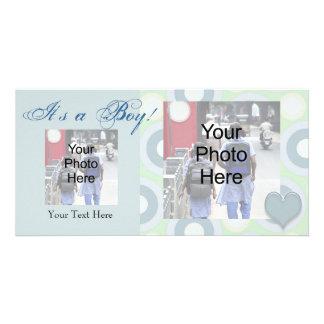 It's a Boy! Custom Photo Birth Announcement Card Photo Greeting Card