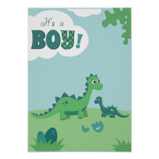 It's a boy dinosaur mommy and boy poster. poster