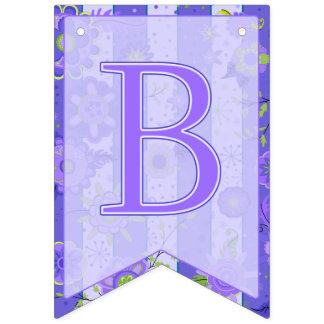 It's A Boy! Elephant Flowers  Purple Swallowtail Bunting Flags