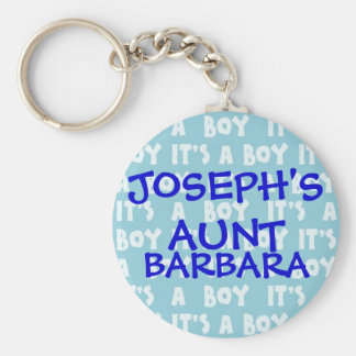 It's A Boy Family Keychain