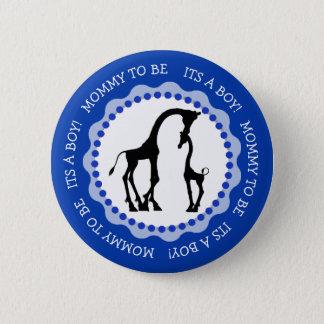 Its a Boy Giraffe Baby Shower Button