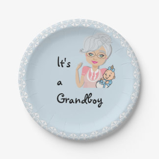 It's a Boy Grandmother Plate