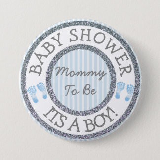 Its a Boy, Mommy to be Baby Shower Button