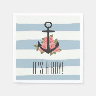 It's a Boy Nautical Baby Shower Napkins Paper Napkin