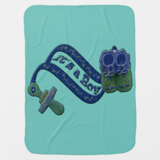It's a Boy Pacifier Shoes Swaddle Blankets