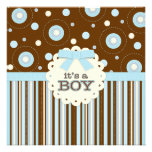 It's a Boy Pastel in Blue Stitches Baby Shower
