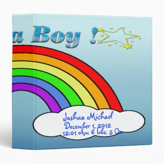 It's A Boy -  Rainbow Keepsake Baby Book Vinyl Binders