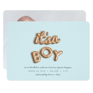 its a boy! Rose gold/BLUE Card