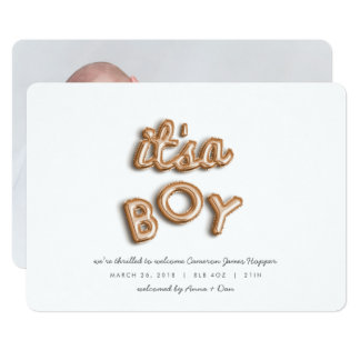 its a boy! Rose gold. Card