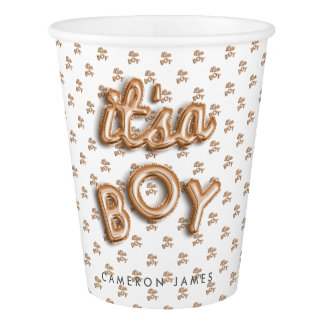 ITS a BOY! Rose gold paper cup