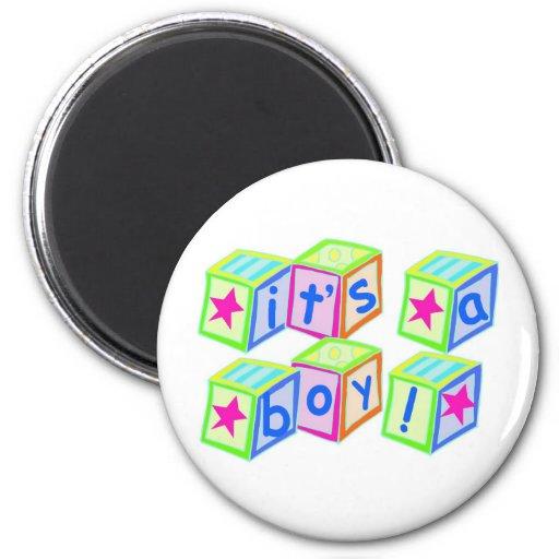 It's a Boy! - Round Magnet