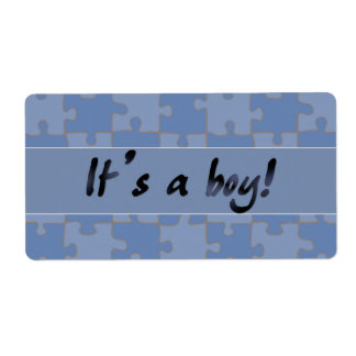 It's a boy! shipping label
