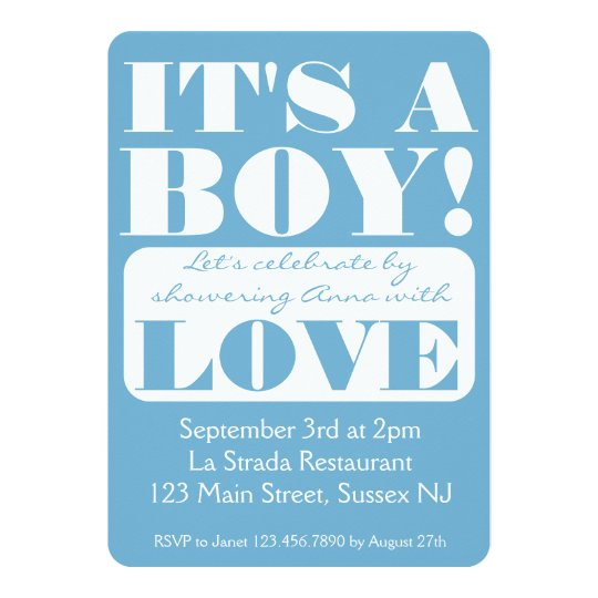 It's a Boy! Shower invitation