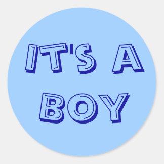 It's a Boy Sticker Seals
