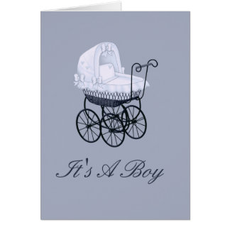 It's A Boy With Stroller Birth Announcement