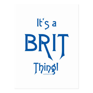 It's a Brit Thing! Postcard