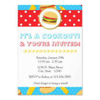 It's a Cookout & You're Invited Summer Invitation