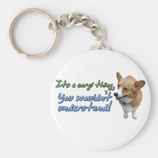 It's a Corgi Thing Basic Round Button Keychain