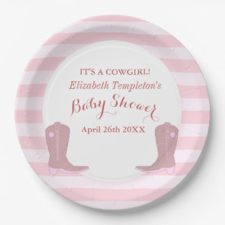 It's a Cowgirl Country Baby Shower Plates