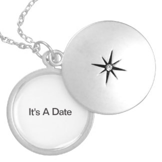 It's A Date Round Locket Necklace