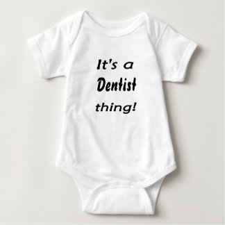 It's a dentist thing! baby bodysuit