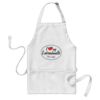 It's a Dog! I Love My Labradoodle Aprons