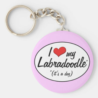 It's a Dog! I Love My Labradoodle Key Chains